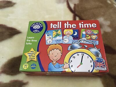 Orchard Toys Tell the Time Lotto - NEW