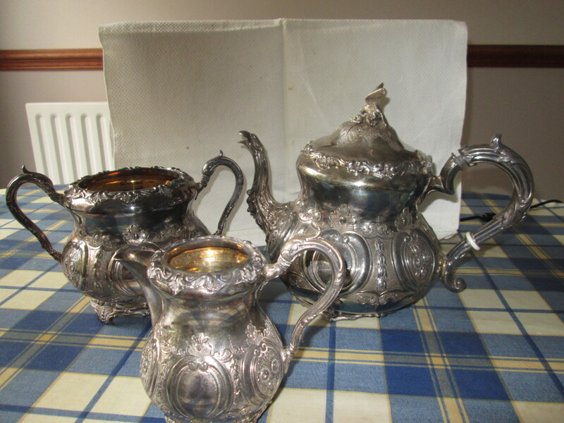Victorian Silver Plated tea set.