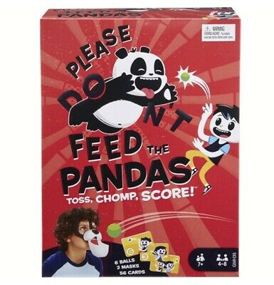 Please Don't Feed The Pandas Family Game Fun Mask and Ball