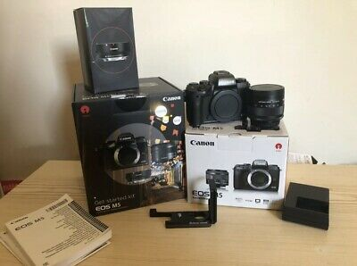 Canon EOS M5 Camera with EF-M mm Lens & Mount Adapter +