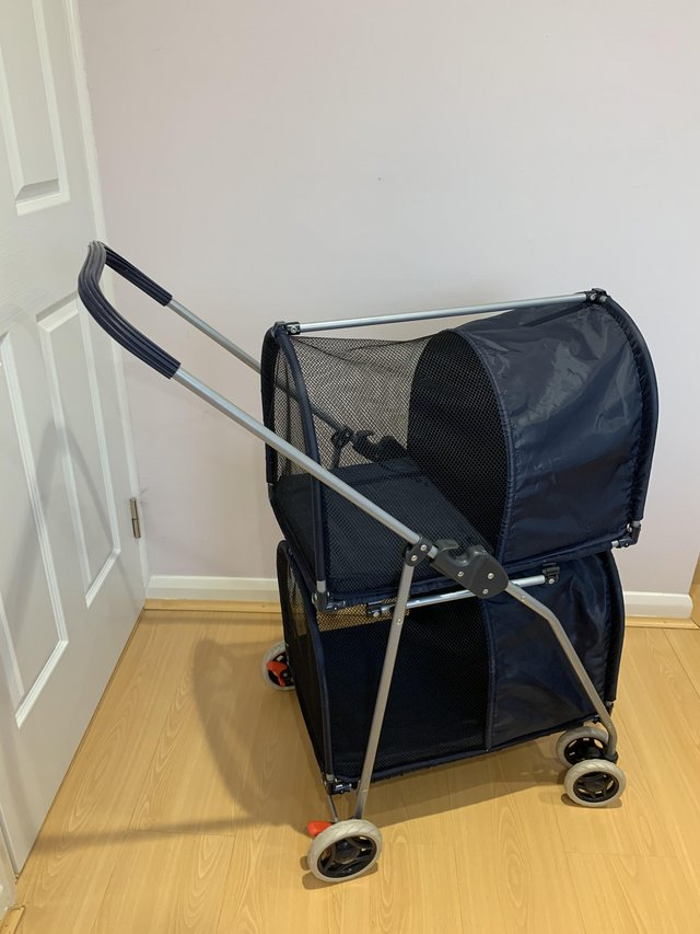 Double Decker Pet Stroller/Carrier/Booster Seat