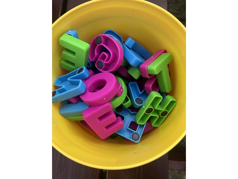 Magnetic alphabet & numbers. Calls only