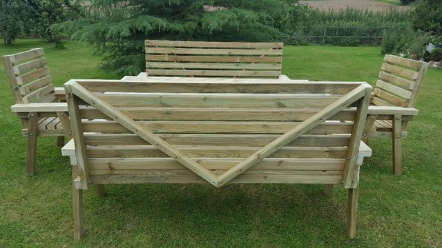 Handmade up-to 8 person patio set