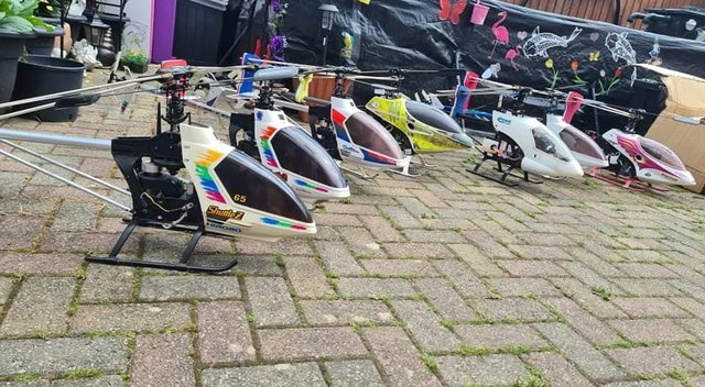 job lot of remote control rc helicopters
