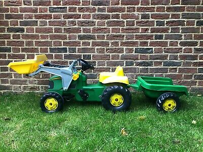 Rolly Toys John Deere Ride-on Tractor Set