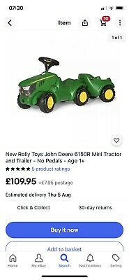 Rolly Toys John Deere Ride-on Tractor&traile r Set Up To 4