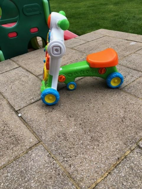 sit on/ push along toy for toddlers