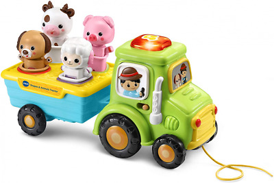 VTech Shapes and Animals Tractor, Educational Pull Along Toy