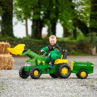 Rolly John Deere Large Tractor, Trailer and Loader and