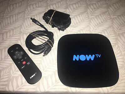 NOW TV Smart Box with remote control and HDMI cable - Black